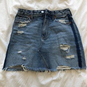 Abercrombie & Fitch Distressed Jean Skirt
